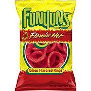 hot funyuns heb funyuns flamin hot onion flavored rings shop chips at h e b