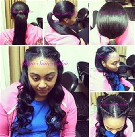 versatile sew in leave out natural ponytails on pinterest sew ins hair weaves and