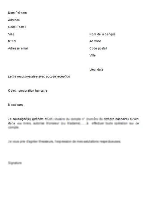 Exemple De Lettre De Procuration Pour Succession Modele Procuration Document