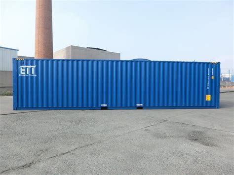 fuss high cube container blau