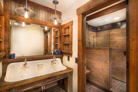 rustic industrial bathroom farmhouse industrial decor with wood paneling bathroom