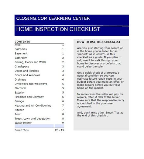 home inspection checklist template pictures to pin on