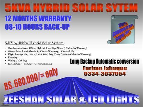 5kva Hybrid Solar System by Paragon Green Energy