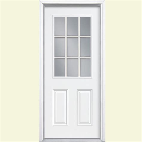 Exterior Steel Door With Window 32 X 80 Steel Doors Front Doors Exterior Doors The Home Depot