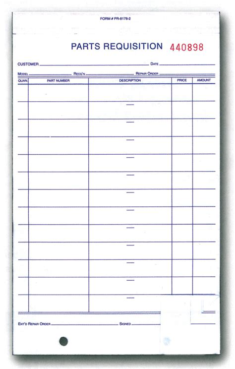 requisition template