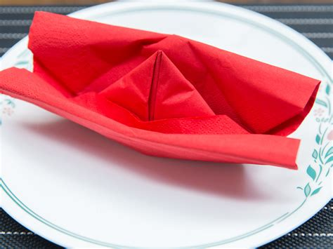 boat origami with napkins 4 ways to fold a napkin like a boat wikihow