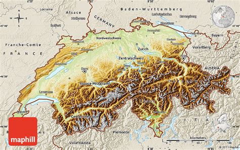 physical map of switzerland gallery for gt switzerland physical map