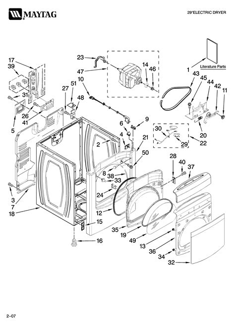 maytag dryer parts diagram maytag residential dryer parts model med6400tq0 sears