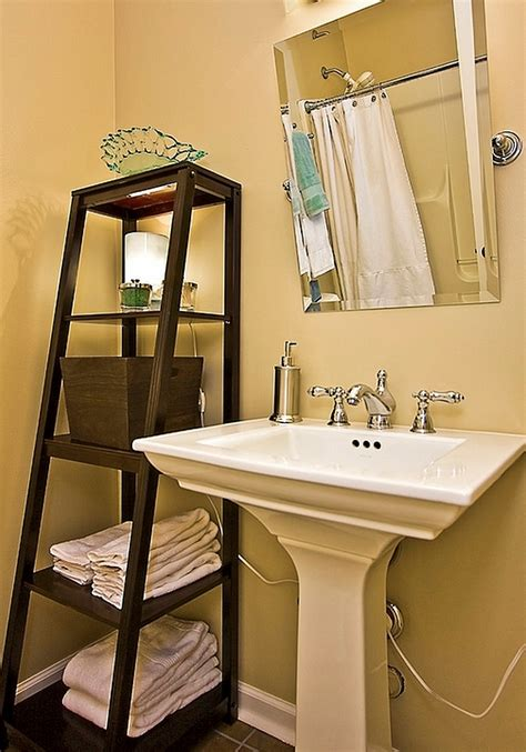 powder room shelves stepping it up in style 50 ladder shelves and display ideas