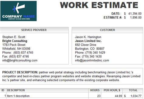 estimate template excel repair quotes like success