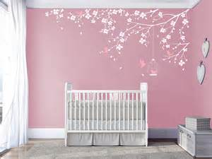 branch wall decal baby nursery decals room tree with leaves gray stickers
