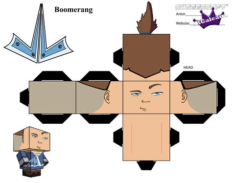 Avatar Papercraft - cubeecrat of sokka from avatar the last airbender skgaleana