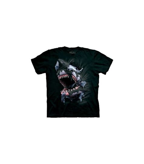 T Shirt Kaos Cozmeed Animal Shark breakthrough shark zoo animals t shirt by the mountain