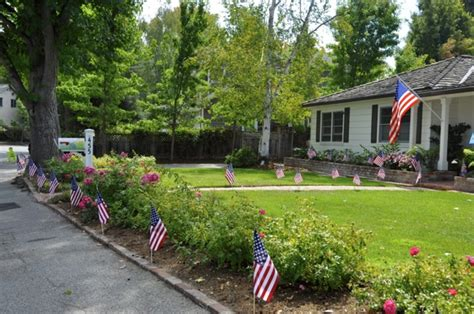 backyard menlo park spotted front yard of flags in menlo park commemorating 9