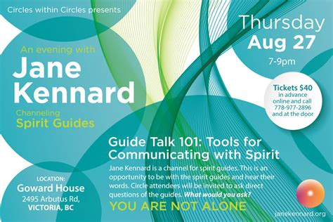 how to communicate with spirits in your house guide talk 101 an evening with jane kennard and spirit guides vancouver island