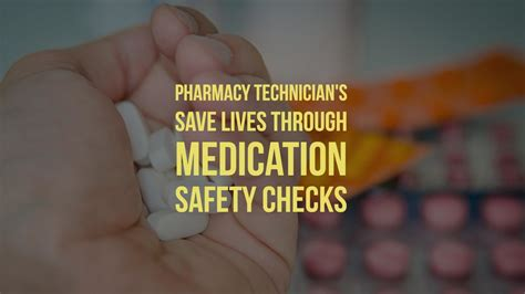Pharmacy Technician Background Check Pharmacy Technician S Save Lives Through Medication Safety Checks