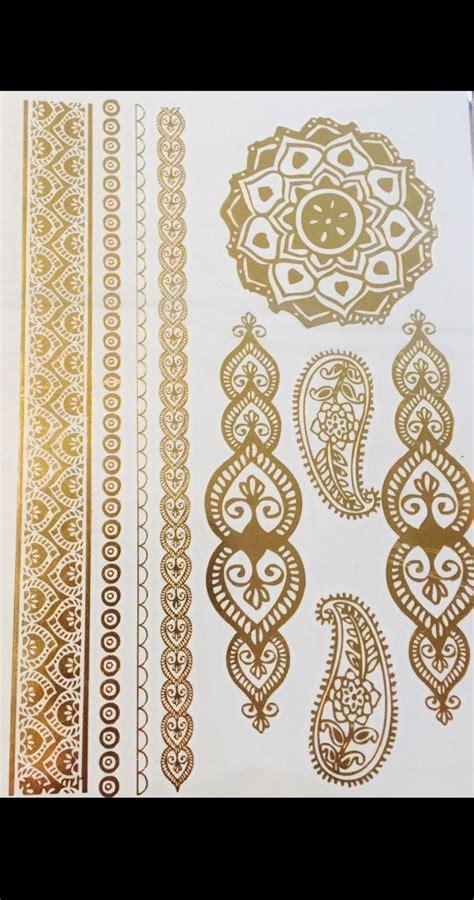 Tattoo Mandala Gold | gold metallic mandala tattoo sheet products mandalas
