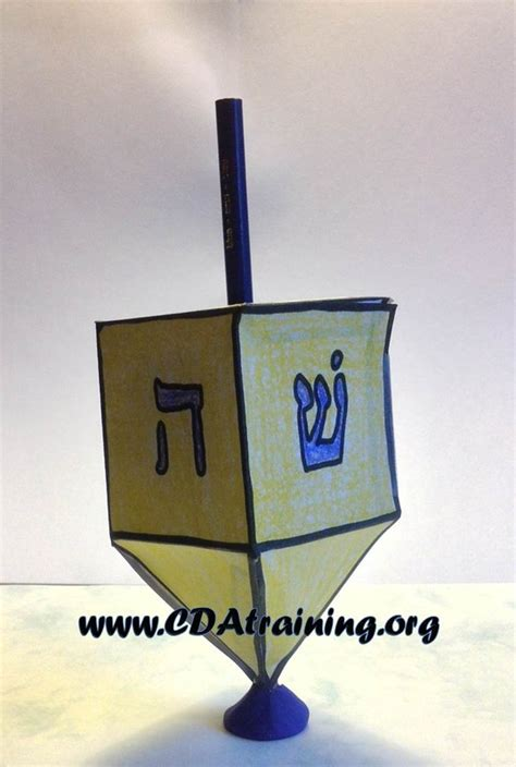 Make A Dreidel Out Of Paper - 123 play and learn child care basics resources hanukkah