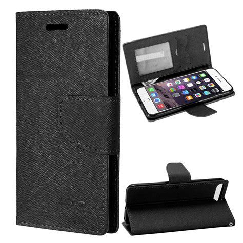 for apple iphone 8 plus wallet phone cover with id card pocket slots ebay