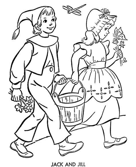 preschool coloring pages jack and jill bluebonkers nursery rhymes coloring page sheets jack