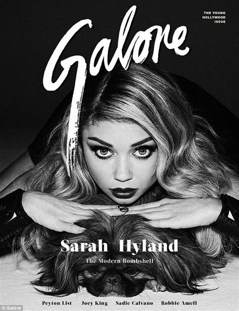 Sarah hyland oozes old hollywood glamour in stunning spread for galore