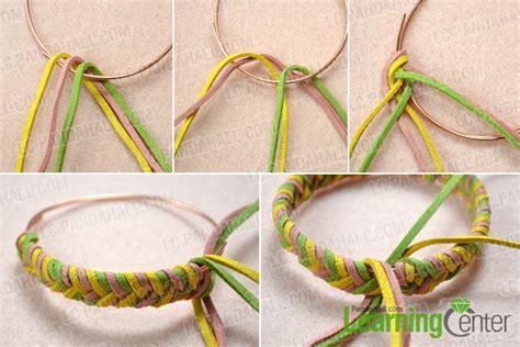 How to Make a Single Braided Charm Bracelet out of Suede Cord  Pandahall.com