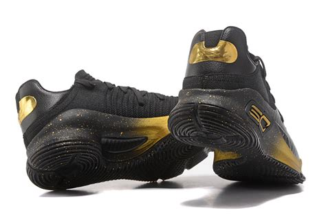 Sepatu Armour Curry 4 Low Black Gold cheap armour curry 4 low black gold for sale
