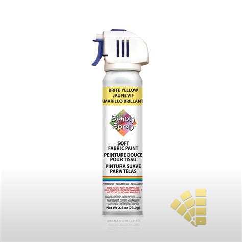 bright yellow fabric paint spray dye vibrant easy soft