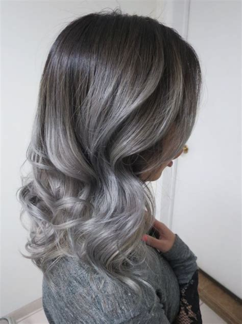 blending greys with med ash blond silver fox on asian hair fashion pinterest asian
