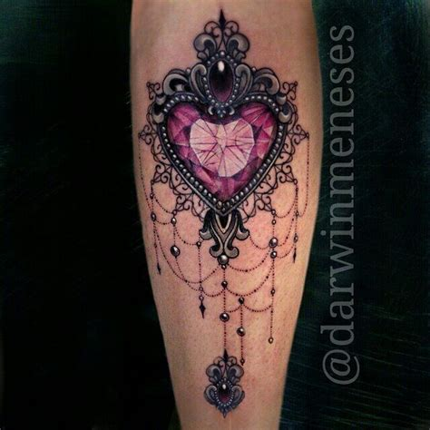 tattoo needle hang image result for jewelled heart tattoo tattoos