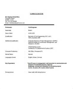 civil engineering resume template 7 engineering resume template free word pdf document