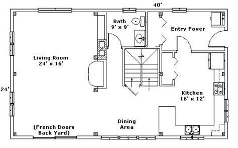 24x40 cabin floor plans 24x40 floor plan home posts