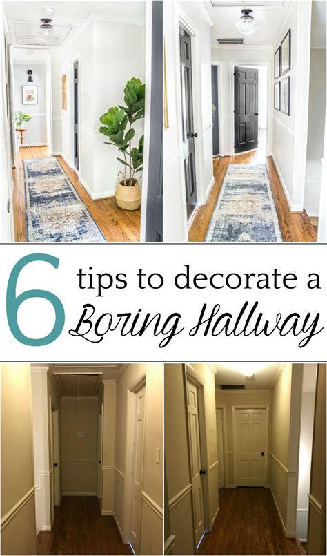 tips  decorate  boring hallway narrow hallway