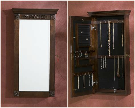hanging mirrored jewelry armoire the perfect jewelry armoires zen merchandiser