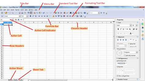 Parts Of A Spreadsheet by Ict And Git Education Calc Open Office Part I