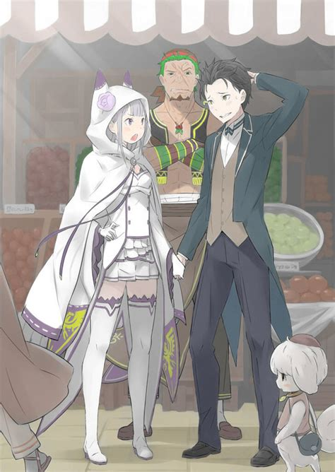 subaru and emilia emilia and subaru by jakiro749 on deviantart