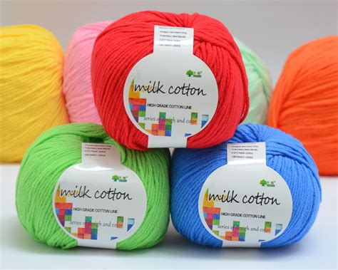 Cotton Rajut 10 benang rajut milco milk cotton crafts