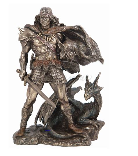 statues for home decor viking warrior hero and dragon statue sculpture fantasy