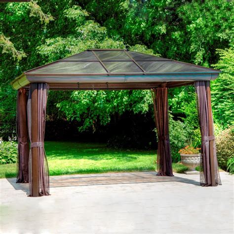 Outdoor Patio Gazebos Gazebo Penguin 43224 14 Ft X 11 Ft 11 In Gazebo Lowe S Canada
