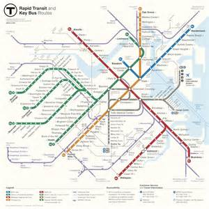 Mbta Boston Map by Mbta Announces Winner Of Map Redesign Competition
