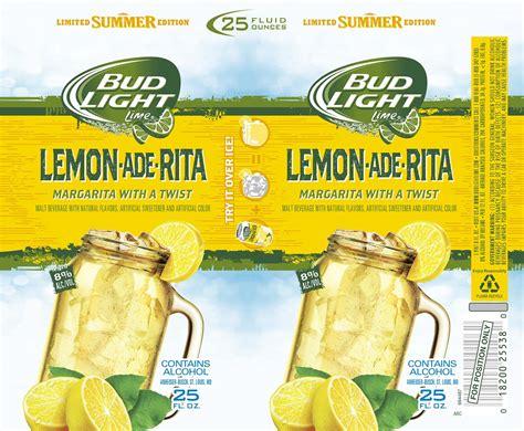 bud light and lemonade bud light lemon ade rita