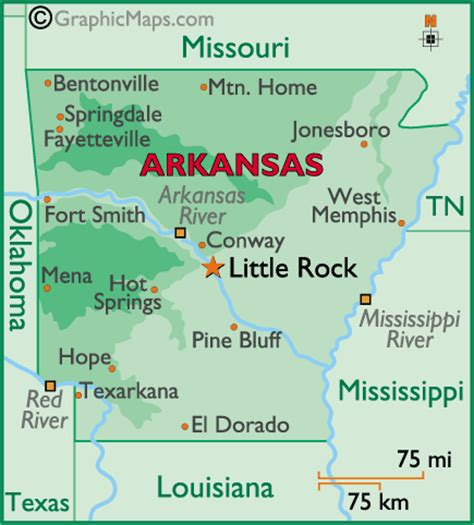 arkansas state on us map arkansas map and arkansas satellite image