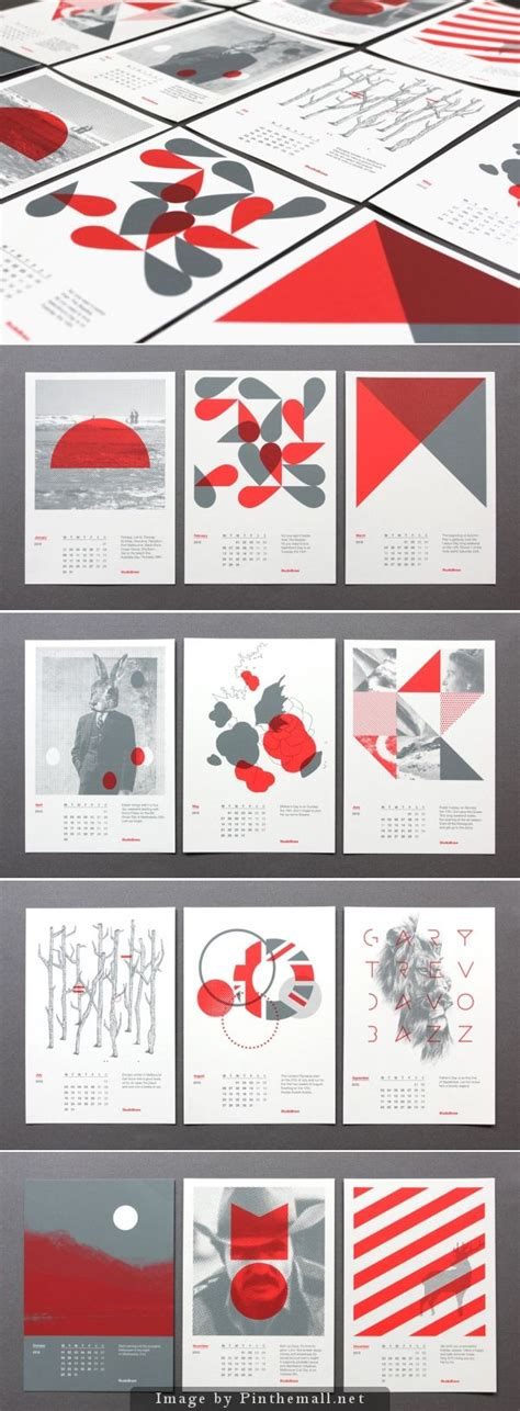calendar card layout modern graphic design calendar cards graphisme