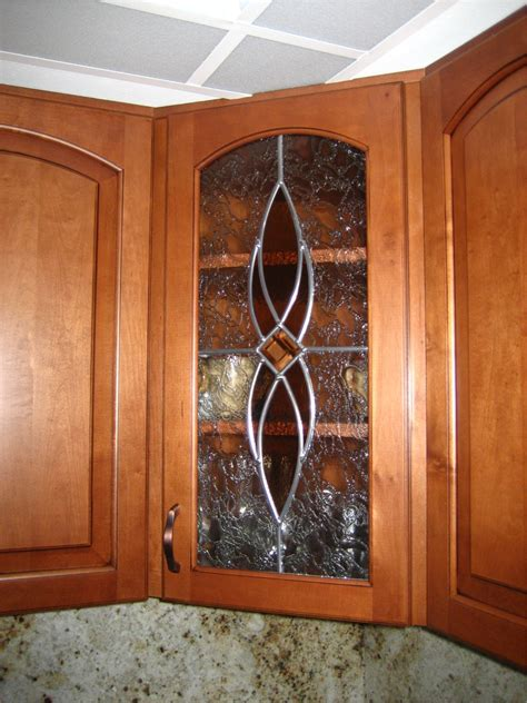 Decorative Glass For Kitchen Cabinets Kitchen Cabinet With Glass Door Kitchen Glass Front Kitchen Cabinets Kitchen Traditional With