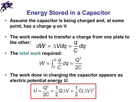 energy stored in a capacitor definition capacitance and dielectrics ppt
