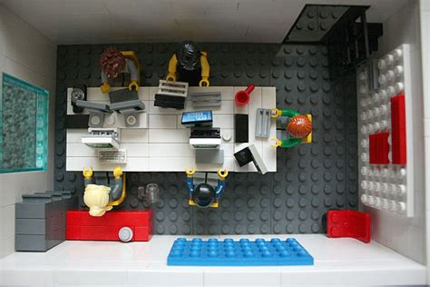 lego office office space made from lego bricks at yard digital in