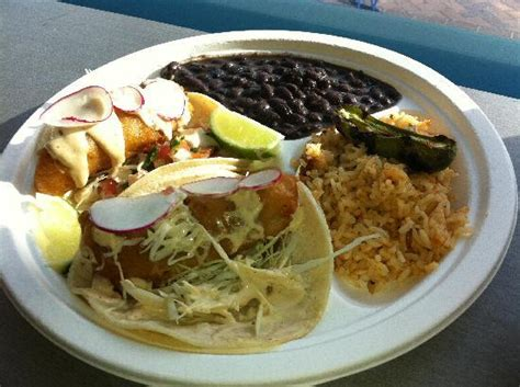 fish taco dinner dorado fish taco dinner plate picture of brookline
