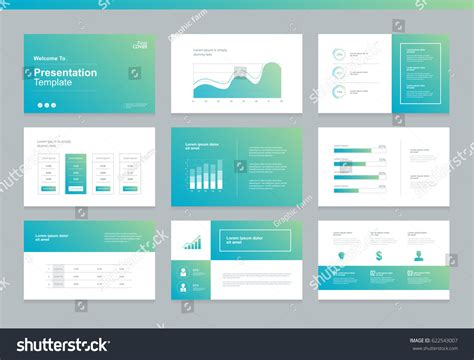 page layout design cost page layout design template presentation brochure stock