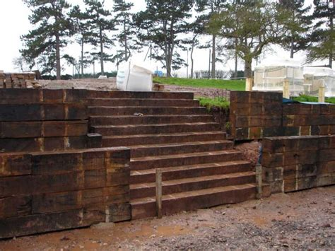 Sleeper Retaining Wall Ideas by Railway Sleepers