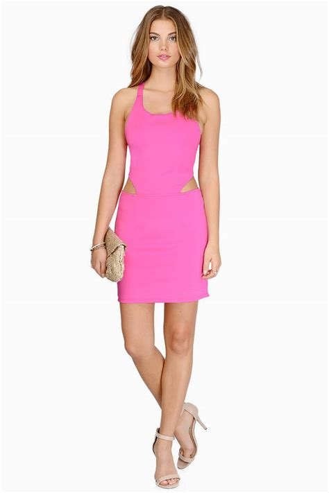 cheap pink bodycon dress cut  dress  tobi